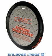 Steering Wheel Cover - Car Truck SUV - Diamond Grip - GMC - Logo