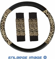 Steering Wheel Cover - Car Truck SUV - Mesh - Animal Print - Tan Cheetah
