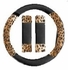 Steering Wheel Cover - Car Truck SUV - Mesh - Animal Print - Tan Leopard