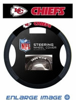 Steering Wheel Cover - Car Truck SUV - Mesh - Kansas City Chiefs