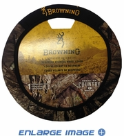 Steering Wheel Cover - Car Truck SUV - Neoprene - Browning Buckmark Camo