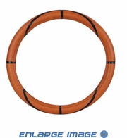 Steering Wheel Cover - Car Truck SUV - Synthetic Leather - Basketball