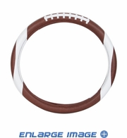 Steering Wheel Cover - Car Truck SUV - Synthetic Leather - Football