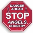 "Stop Sign - MLB Baseball - Los Angeles Angels of Anaheim ""Danger Ahead"""