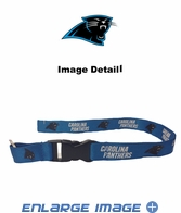 Team Logo Lanyard Keyring with Velcro closure - Carolina Panthers - Blue