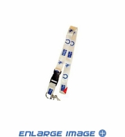 Team Logo Lanyard Keyring with Velcro closure - Indianapolis Colts - White