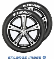 Tire Tatz Sidewall Decal - 5pc Set  - Car Truck SUV - Chicago Bears