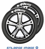 Tire Tatz Sidewall Decal - 5pc Set  - Car Truck SUV - San Francisco 49ers
