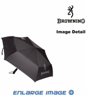 Travel Umbrella - Browning Buckmark Logo - Black