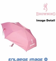 Travel Umbrella - Browning Buckmark Logo - Pink