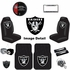 Ultimate Fan Auto Accessories Interior/Exterior Combo Kit Gift Set - 12pc - Oakland Raiders
