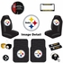 Ultimate Fan Auto Accessories Interior/Exterior Combo Kit Gift Set - 12pc - Pittsburgh Steelers