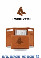 Wallet - Tri-Fold - Embroidered Leather - Boston Red Sox