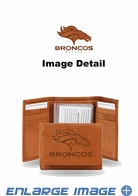 Wallet - Tri-Fold - Embroidered Leather - Denver Broncos