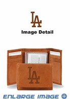 Wallet - Tri-Fold - Embroidered Leather - Los Angeles Dodgers