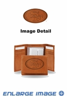 Wallet - Tri-Fold - Embroidered Leather - San Francisco 49ers
