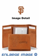 Wallet - Tri-Fold - Embroidered Leather - San Francisco Giants