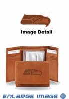 Wallet - Tri-Fold - Embroidered Leather - Seattle Seahawks