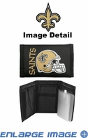 Wallet - Tri-Fold - Nylon - New Orleans Saints