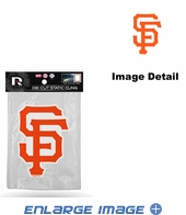 Window Graphic - Die-Cut Static Cling  - San Francisco Giants