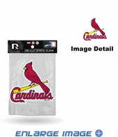 Window Graphic - Die-Cut Static Cling  - St. Louis Cardinals