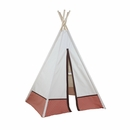 6ft Hideaway Orange Polka Dot Five Panel Teepee