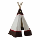 6ft Western Teepee Kids Play Tent -Natural/Brown