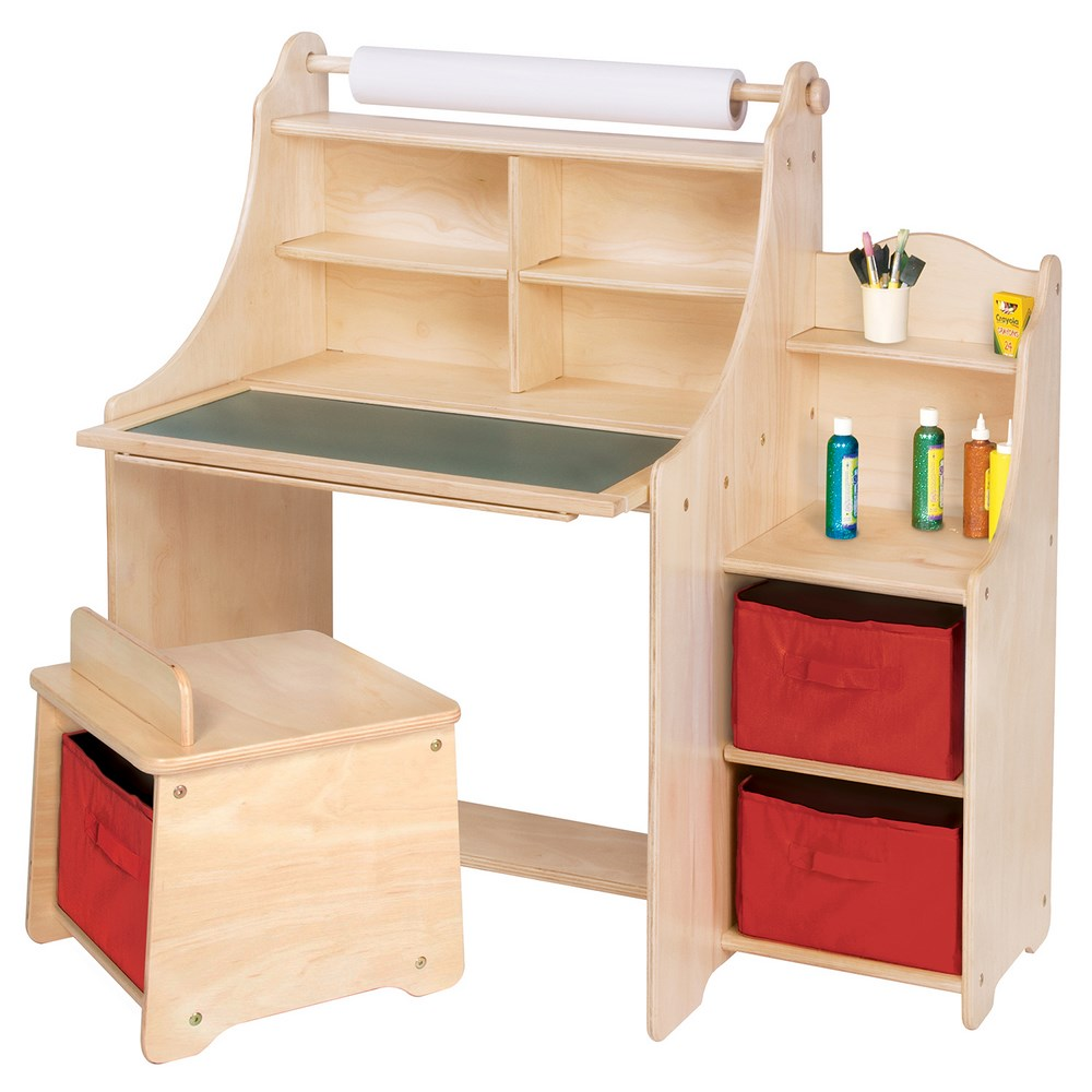 Art Desk with Storage 1000 x 1000