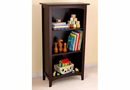Avalon 3 Shelf Childs Tall Bookcase , Espresso/Cherry/White
