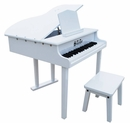 Children's Piano - 37 Key Concert Grand Piano with Opening Top by Schoenhut,Black,White or Mahogany