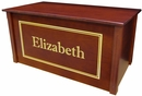 Dream Toy Box-Personalized Cherry Wooden toy box/Toy chest -Made in USA