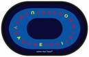 Flagship Kids Carpets-Letters that Teach™ Kids Educational Oval Rug