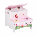 Guidecraft Butterfly Buddies Kids Step Stool/Storage Step-Up