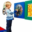 Kids toys-Busy Cube - Paddle Wheel Wall Panel-Made in USA
