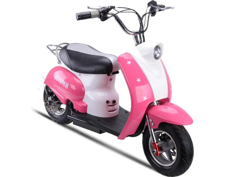 Mototec 24v Electric Moped Pink Kids Bike Free Shipping