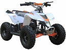 MotoTec 24v Mini Quad v3 Kids ATV White