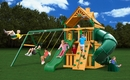 Mountaineer Clubhouse Cedar Swing Set