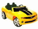 NPL Chevrolet Racing Camaro 12v Kids Car Yellow