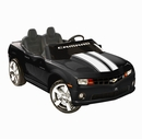 NPL Chevrolet Racing Camaro Black 12v Kids Car