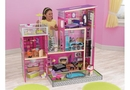 Uptown Wooden dollhouse w/ 30 pc doll furniture
