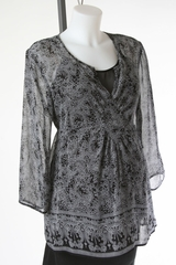 Black and White Sheer Top by Oh Baby! - Size Large