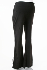 Black Jersey Fabric Maternity Pants by Duo Maternity - Size Small