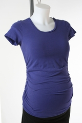 Blue Maternity T-shirt by A Pea in the Pod - Size Extra Small