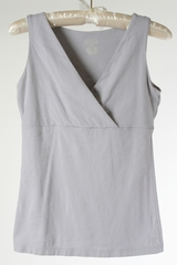 Grey Jersey Faux Wrap Top by Merona - Size Extra Small (not a maternity specific design)