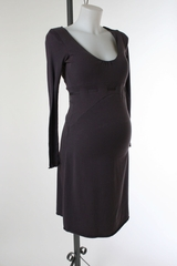Grey Jersey Maternity Dress by Babystyle - Size Small