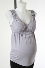 Grey Jersey Maternity Top by Liz Lange Maternity - Size Extra Small