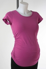 Purple Maternity T-shirt by A Pea in the Pod - Size Extra Small