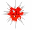 28 Inch Diameter White and Red Paper Moravian Star by Herrnhuter Sterne GmbH