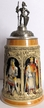 German Knights, Painted Beer Stein by KING-WORKS Wuerfel & Mueller GmbH and Co. in Hoehr-Grenzhausen