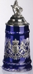 German Lord of Crystal, Blue Bavaria Beer Stein by KING-WORKS Wuerfel & Mueller GmbH and Co. in Hoehr-Grenzhausen